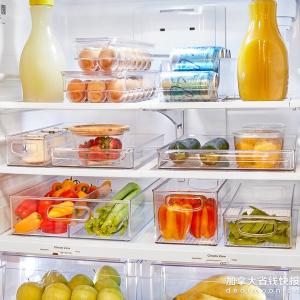 iDesign 亚克力冰箱食物收纳盒 化妆品收纳架 从此再无杂乱