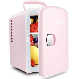 低至6.2折 $34收封面粉色款限今天:AstroAI 便携式迷你小冰箱促销 可保存护肤品