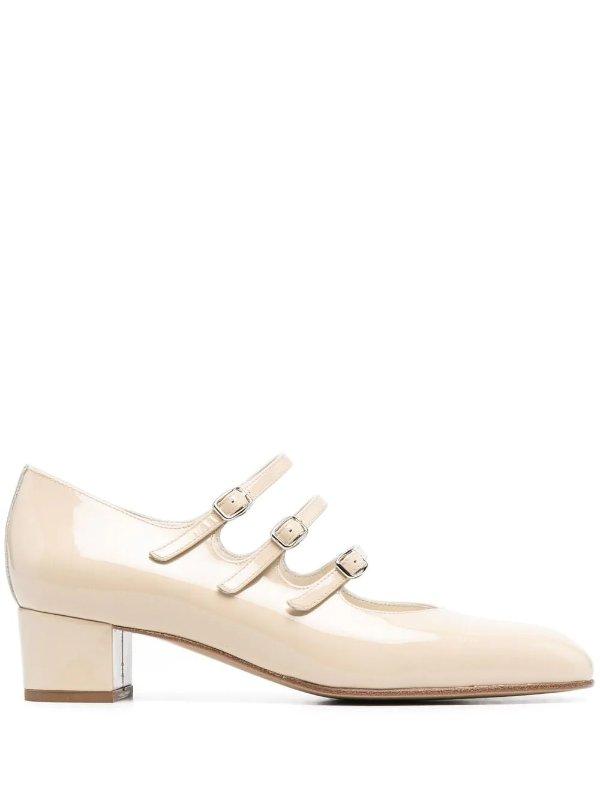 奶白玛丽珍鞋