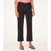 LOFT Outlet High Rise Slim Wide Leg Crop Jeans in Black