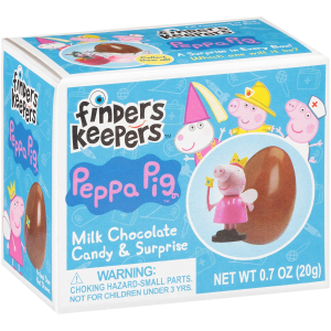 Finders Keepers 小猪佩奇巧克力蛋 4.2oz 6盒 每盒配1个玩具