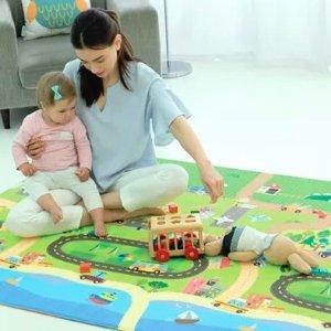 5折 史低价BABYCARE 宝宝爬行垫特卖 双面图案,厚薄两款