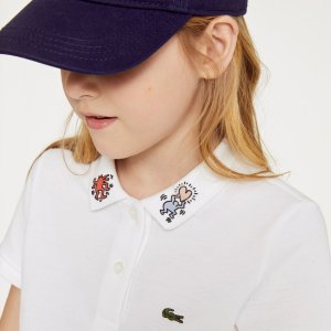 LacosteGirls' Keith Haring Patterned Cotton Polo