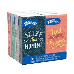 $2.28Kleenex 舒柔面巾纸随身包 8包