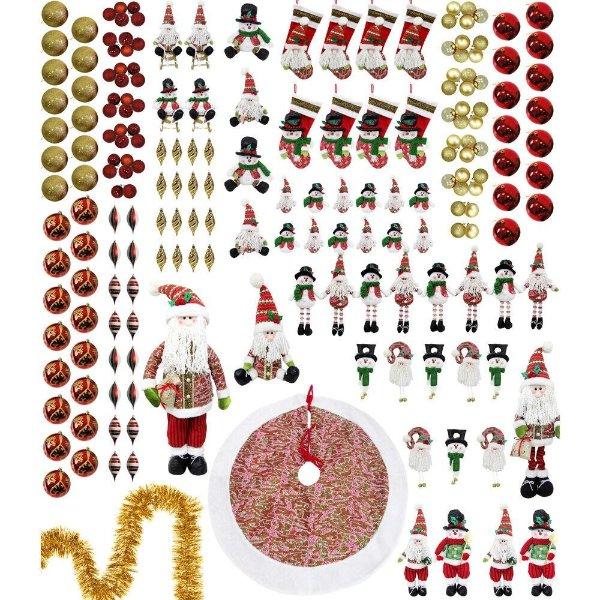 圣诞老人圣诞树装饰196件套