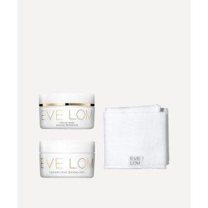 Eve Lom价值£115!划算爆表!单买套装£55!100ml卸妆+100ml急救面膜