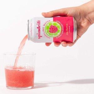 $11.95起 一罐只需$0.5Spindrift 高颜值果味气泡水 12 oz. 24罐