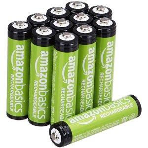 As low as $10.19AmazonBasics AA/AAA Rechargeable Batteries