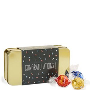 LindorCreate Your Own LINDOR Truffles Congratulations Gift Tin (12-pc, 5 oz)   Lindt Chocolate