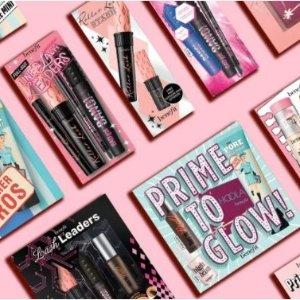 立减£5 £10收新品定妆喷雾Benefit 官网全场热促 新年限定彩妆礼包上市!