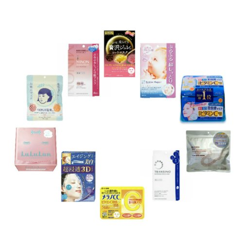 10款日本最畅销面膜(含172片)