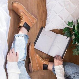 全场8.5折 $136收低帮加绒靴上新:Influence U 时尚皮靴专场 好价收Timberland、Ugg