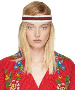 Gucci: Tricolor Web Headband | SSENSE
