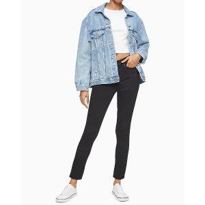 Calvin KleinSkinny High Rise Black Denim Ankle Jeans