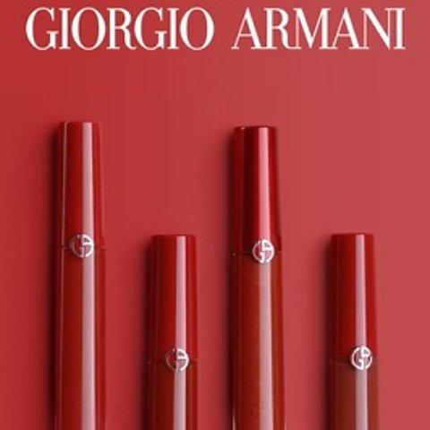 直接5.4折+送好礼 仅€19.75Armani 红管唇釉直降€14.5 姨妈色、梅子色、正红色等都有