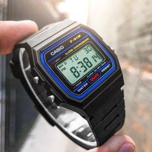 7.7折 $18.46(原价$24)Casio 热销平价手表 经典方块 实用百搭