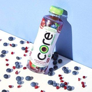 CORE Organic Pomegranate Blue Acai 18 Fl Oz Pack of 12