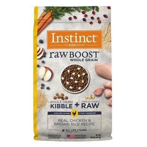 Raw Boost系列 鸡肉糙米味冻干狗粮 20磅
