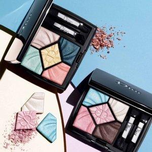 Dior满额送5件套新款:5色眼影盘