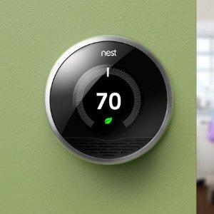 立减$100 三代$149 E仅需$69逆天价复活:Nest Thermostat系列 温度控制器