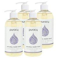 Puracy 熏衣草和香草保湿凝胶洗手液4件装