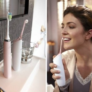 27% Off + Extra 15% OffPhilips Sonicare HX8432/12 AirFloss Pro with Mouthwash Pink