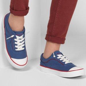 $30.62 春夏百搭史低价:Skechers斯凯奇 Half Moon-Luna 红蓝撞色帆布鞋 7.5码