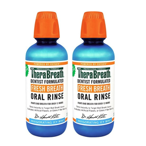 $10.69TheraBreath Dentist Recommended Fresh Breath Oral Rinse 16 Ounce (Pack of 2)