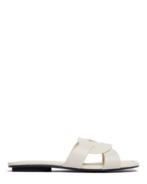 CAMERON - WOVEN SLIDES | SANDALS | All Shoes | Pedder Red