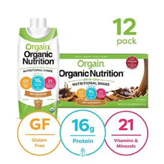 $14.85Orgain Organic Nutritional Shake, Iced Cafe Mocha 11 Oz, 12 Count