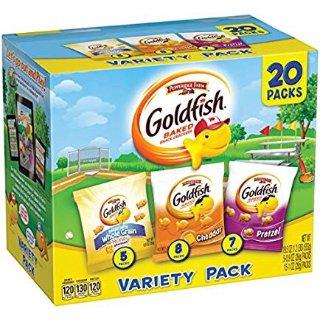 $6.64 每包$0.33Pepperidge Farm Goldfish 小金鱼芝士饼干 20包多口味装