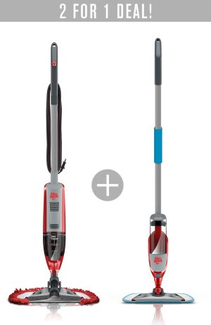 Buy the Vac+Dust Corded Stick Vacuum and Get the Spray+Mop FREE!  @ Dirt Devil