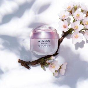 $25起+自选最高价值$112好礼Shiseido官网 新品上线 收新透白面霜等