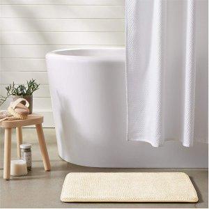 $4.81(原价$12.99)AmazonBasics 记忆海绵吸水浴室防滑垫