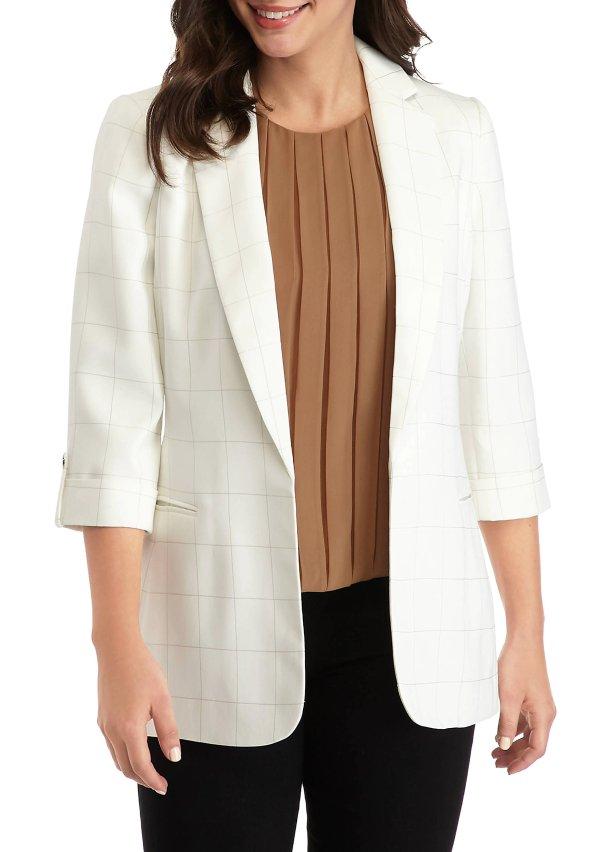 女士格纹西装外套