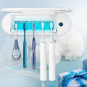 $33.49(原价$39.99)MECO 壁挂式牙刷消毒架 UV杀菌干燥卫生健康 可放5支牙刷