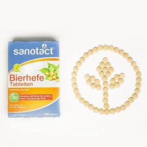 收获美丽健康的头发和指甲Sanotact 啤酒酵母片