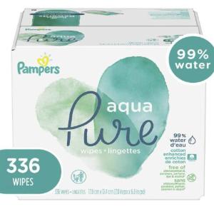 $16.13(原价$19.97)Pampers Aqua 低敏湿巾336抽 温和无香 含99%纯水