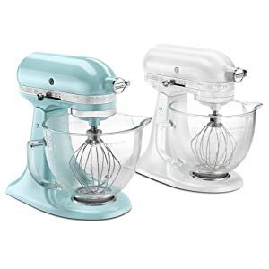 Amazon.com: KitchenAid KSM155GBAZ 5-Qt. Artisan Design Series with Glass Bowl - Azure Blue: Electric Stand Mixers: Kitchen & Dining