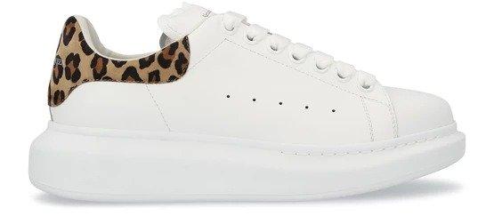 新款豹纹尾小白鞋