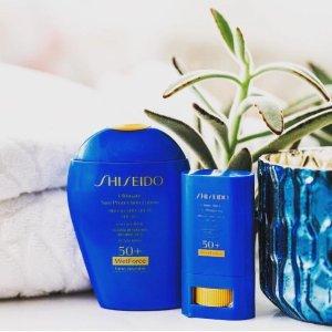 低至7.5折+防晒才防老Shiseido 防晒专场,蓝胖子SPF30 100ml低至¥224