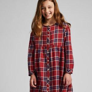Uniqlo女童格子连身裙