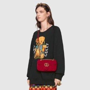 定价优势 丝绒Marmont$1000+Gucci 经典乐福鞋$525、腰包$750