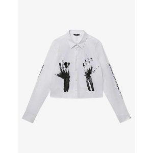 Middlefingers graphic-print stretch-cotton shirt
