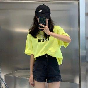 Balenciaga荧光黄T恤