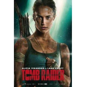 免费领取电影票 2张先到先得:最新《古墓丽影》3月7日晚 7点场 首映前预映