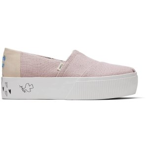 TomsBallet Pink Platform Women's Boardwalk Classics Venice Collection