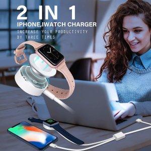$11.99 (原价$49)闪购:Gonler iPhone +Apple Watch 2合1无线充电器