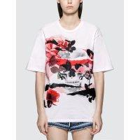 Alexander McQueen Rose Skull Printed T恤