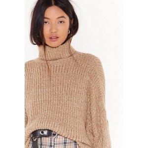 Fluffy Boucle Knit Roll Neck Dip Hem Jumper | Shop Clothes at Nasty Gal!